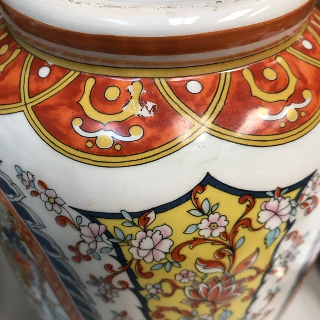 Ceramic Ardalt Chinoiserie Hand Painted Vases - A Pair For Sale - Image 7 of 10