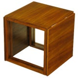 Image of Trio of Kai Kristiansen Nesting Cube Tables in Teak For Sale