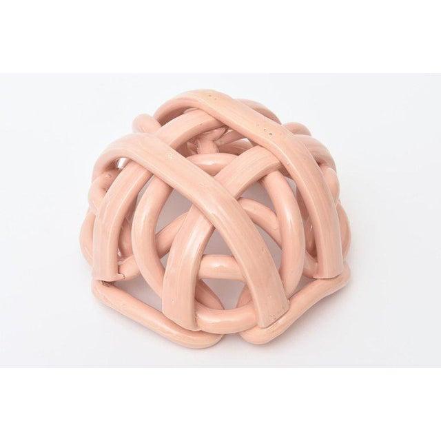 Ceramic Vintage Twisted Glazed Ceramic Sculptural Bowl For Sale - Image 7 of 11