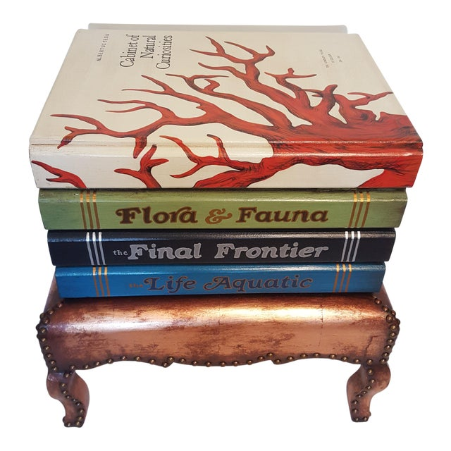 """Cabinet of Curiosities"" Lift Top Book Form Side Table For Sale"