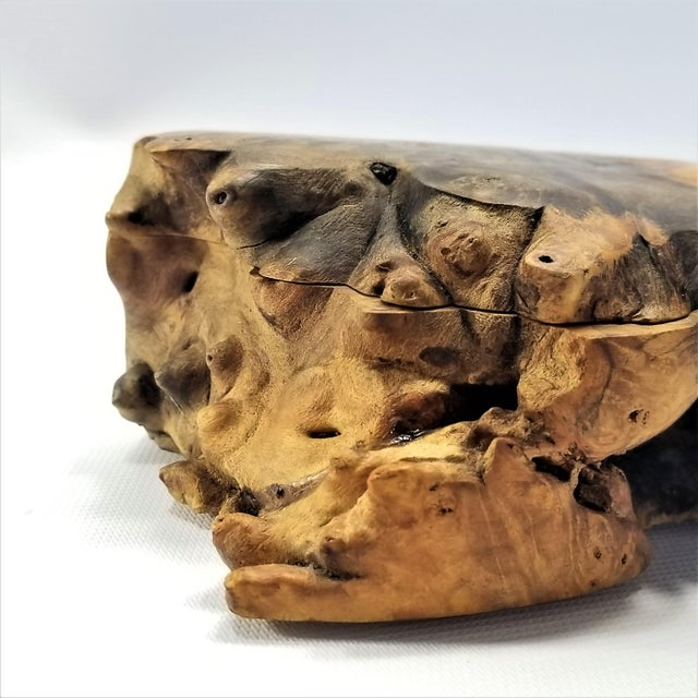 Vintage Burl Wood Trinket Jewelry Box by Doug Muscanell - Signed - Organic Mid Century Modern Palm Beach Boho Chic Tree For Sale In Miami - Image 6 of 13