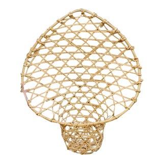 Vintage Peacock Boho Wall Basket Planter For Sale