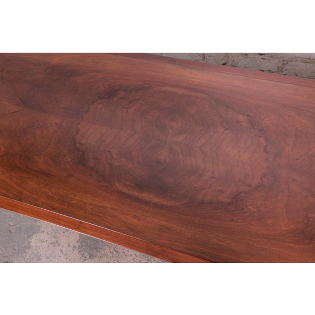 Brown Baker Furniture French Regency Louis XVI Style Burled Walnut Coffee Table, Newly Restored For Sale - Image 8 of 12