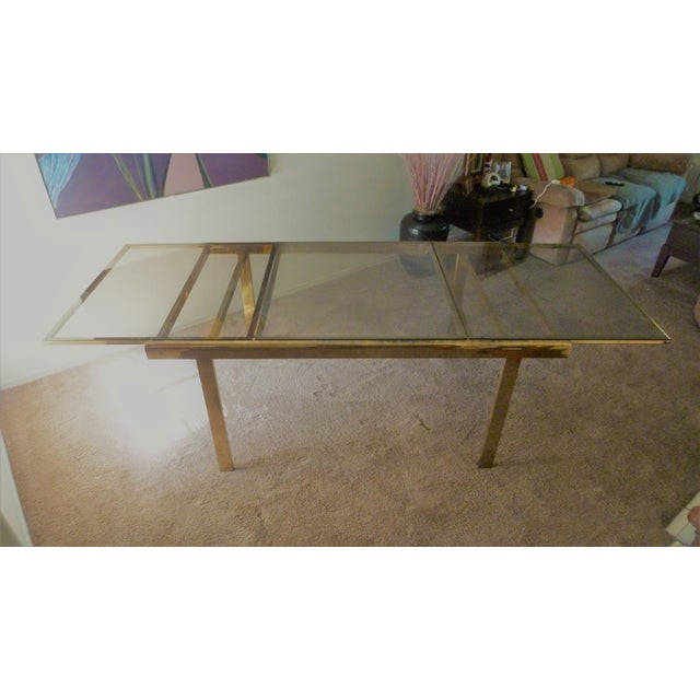 Vintage Brass Dining Room Table - Image 2 of 3