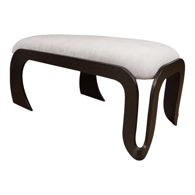 1960s Rectangular Upholstered Bench For Sale