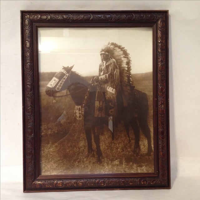 Native American Chief Hector Photograph - Image 3 of 8