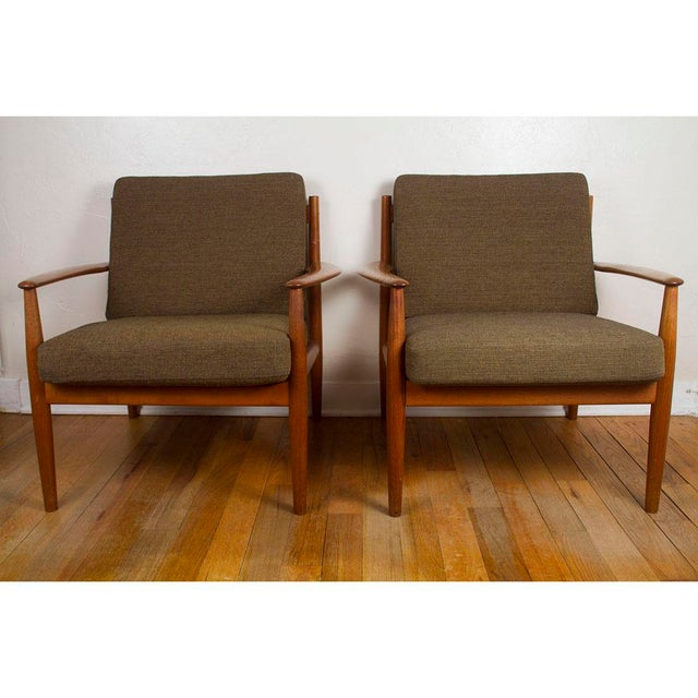 1960s Vintage Grete Jalk for France & Son Danish Modern Lounge Chairs - A Pair For Sale - Image 13 of 13