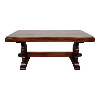 1880's Antique French Country Style White Mahogany Coffee Table For Sale