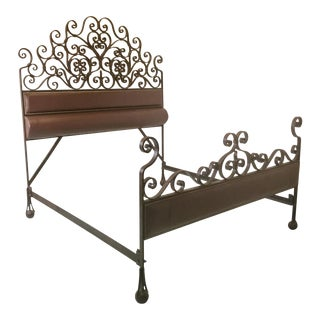 Vintage Hand Forged Iron King Size Bedframe