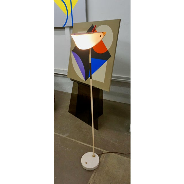 Unique and rare Italian floor lamp designed in the 1950's.