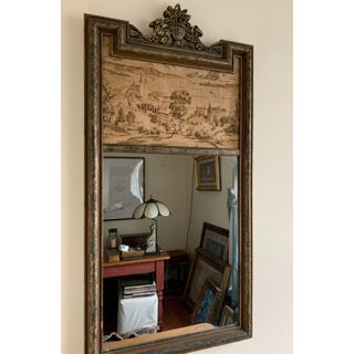 19th Century Trumeau Antique Gilt Mirror With Painting on Canvas Preview