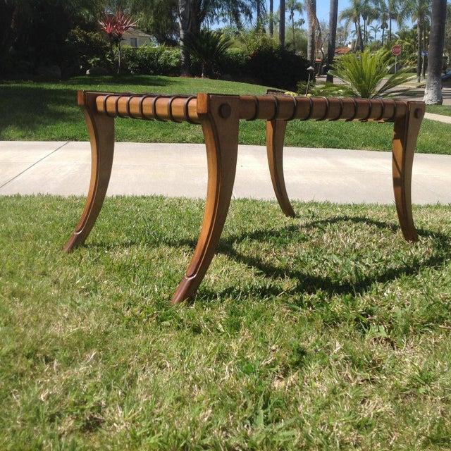 Mid Century Modern Klismos Bench For Sale - Image 4 of 7