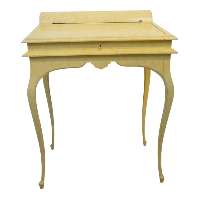Creamy Lacquered Writing Desk - Image 1 of 8