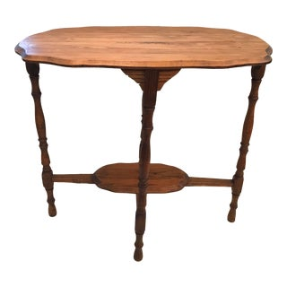 Vintage Fruit Wood Console Side Table For Sale