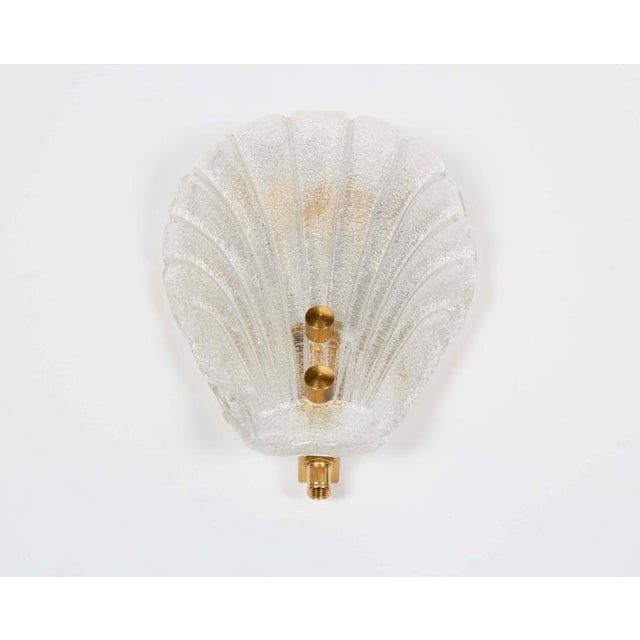 1950s Pair of Murano Shell Glass Sconces by Barovier & Toso For Sale - Image 5 of 11