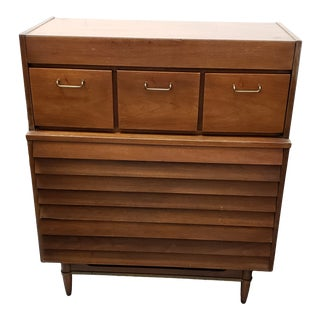 1960's American of Martinsville Dania Tall Chest For Sale