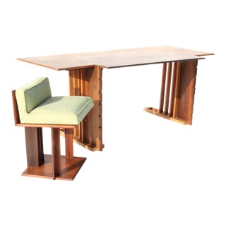 Rare 1945 Unison Desk and Chair by Frank Lloyd Wright For Sale