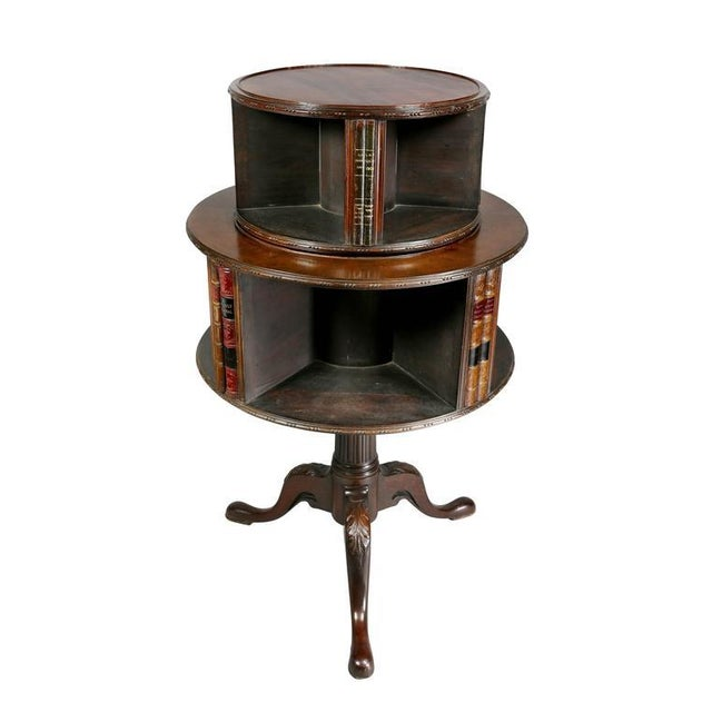 George III Style Mahogany Revolving Bookstand For Sale In Boston - Image 6 of 9