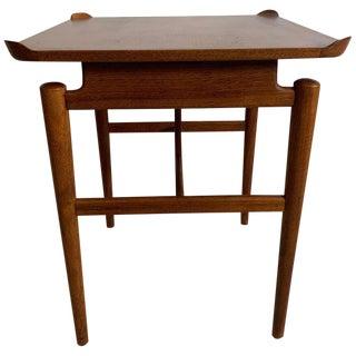 1950s Vintage Finn Juhl Walnut End Table for Baker For Sale