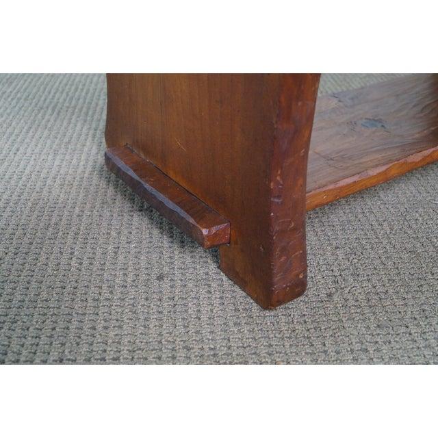 Rustic Slab Wood Coffee Table - Image 6 of 10
