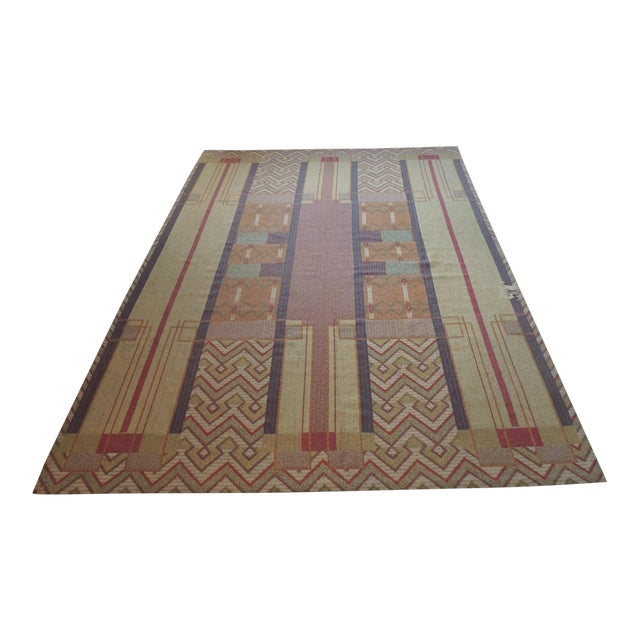 Frank Lloyd Wright Arts & Crafts Inspired Rug - 8′6″ × 11′2″ For Sale