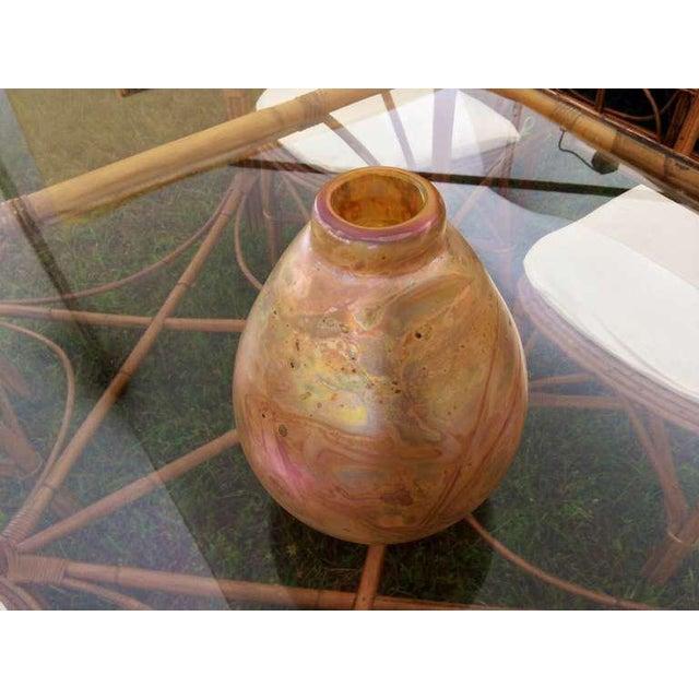 Robert Eicholt Glass Vase For Sale - Image 4 of 7