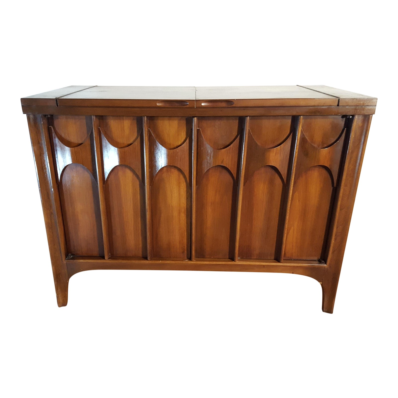 Mid century modern furniture kent coffey perspecta bar cart chairish