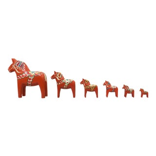Dala Horse Set - Set of 6 For Sale
