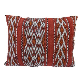 Mid-Century Moroccan Berber-Patterned Wool Pillow For Sale