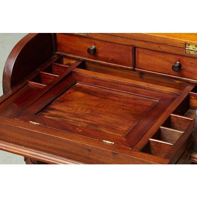 20th Century Walnut Piano Top Davenport Desk For Sale - Image 12 of 13