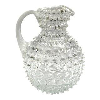 Vintage Hobnail Glass Pitcher For Sale
