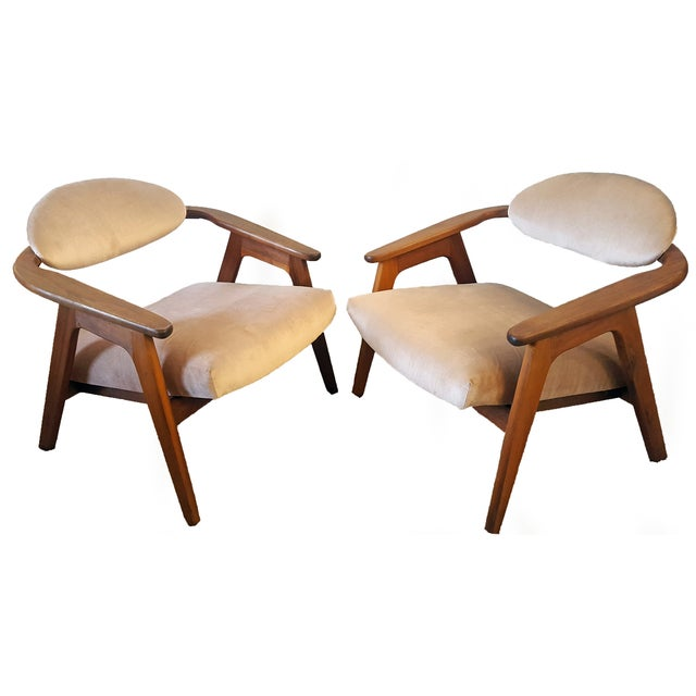 Adrian Pearsall Craft Captain Chairs - Pair - Image 1 of 8