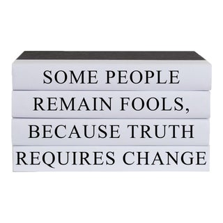 Truth Requires Change Quote Book Stack - 4 Pieces For Sale