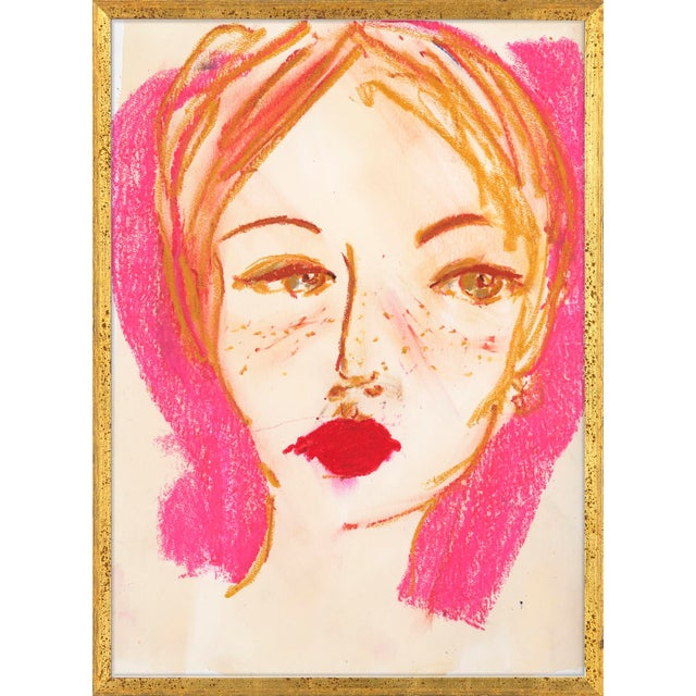 Camille Art Print in Walnut Frame For Sale