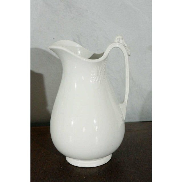19th Century English White Ironstone Pitchers - Individual For Sale - Image 4 of 9