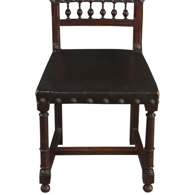 1920s Dining Chairs Henry II Renaissance Walnut Brown - Set of 6 For Sale - Image 5 of 10