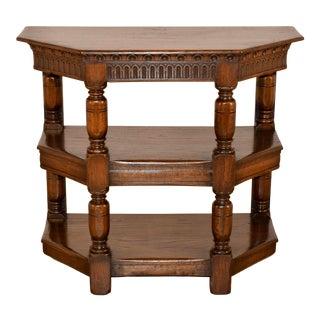 19th-C. English Oak Shelf For Sale