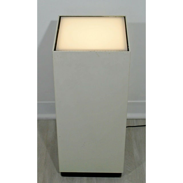 For your consideration is a short, square, light up display pedestal, circa the 1980s. In good vintage condition. The...
