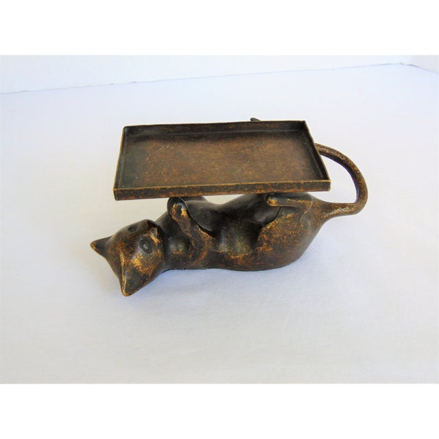 Antiqued brass cat business card holder chairish antiqued brass cat business card holder image 4 of 4 colourmoves