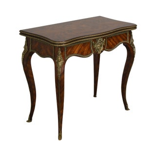 "Theodore Alexander Althorp Living History ""Chance"" Louis XV Style Mahogany Card Table For Sale"