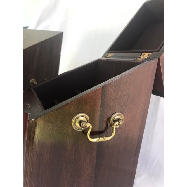 Brown Antique English Mahogany Knife Cutlery Boxes - a Pair For Sale - Image 8 of 12