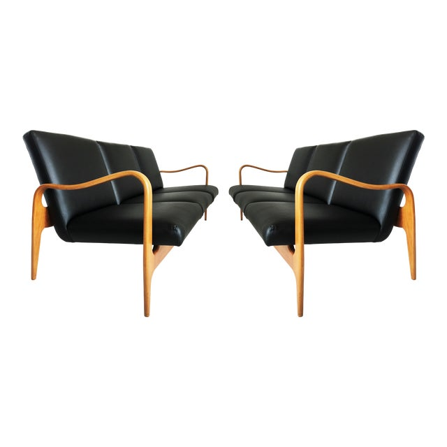 Pair of Modernist Thonet Bentwood Sofas For Sale