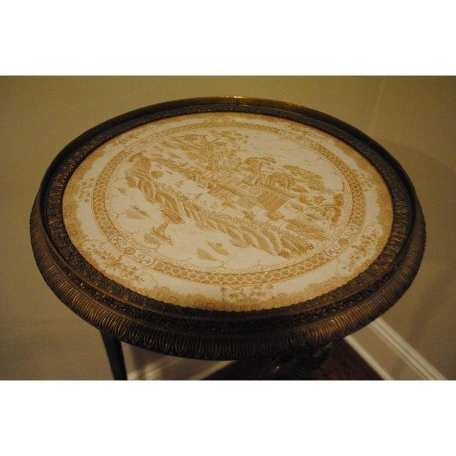 Antique Brass Pedestals - Pair - Image 4 of 9