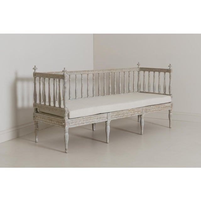 19th Century Swedish Gustavian Period Sofa Bench For Sale - Image 10 of 12