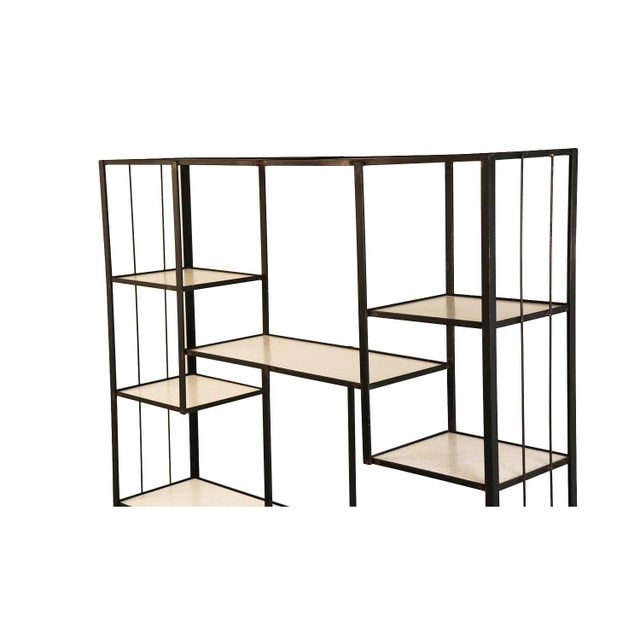 Frederick Weinberg Mid-Century Fredrick Weinberg Iron Étagère Shelving Unit For Sale - Image 4 of 12