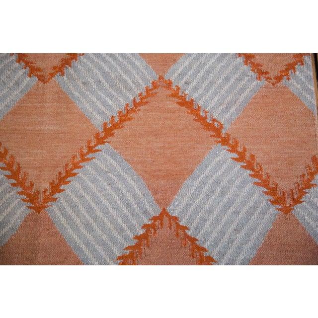 """Hand Woven Diamond Kilim Rug - 4'1"""" x 6' - Image 3 of 6"""