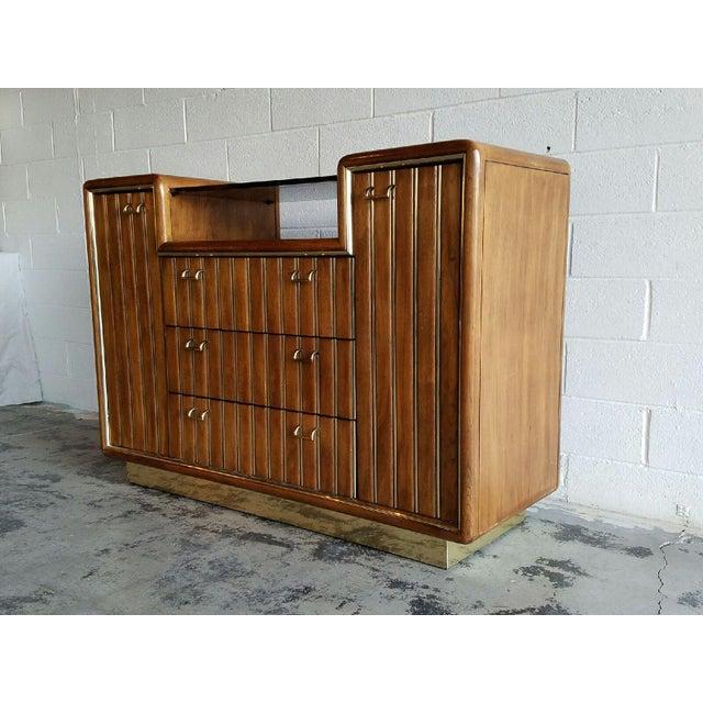 Walnut & Brass Bar Cabinet - Image 4 of 4