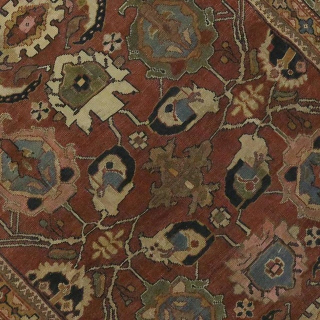 Antique Persian Sultanabad Rug with Traditional Modern Style For Sale - Image 5 of 8