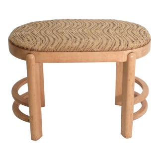 Early 20th Century Art Deco Oval Stool For Sale