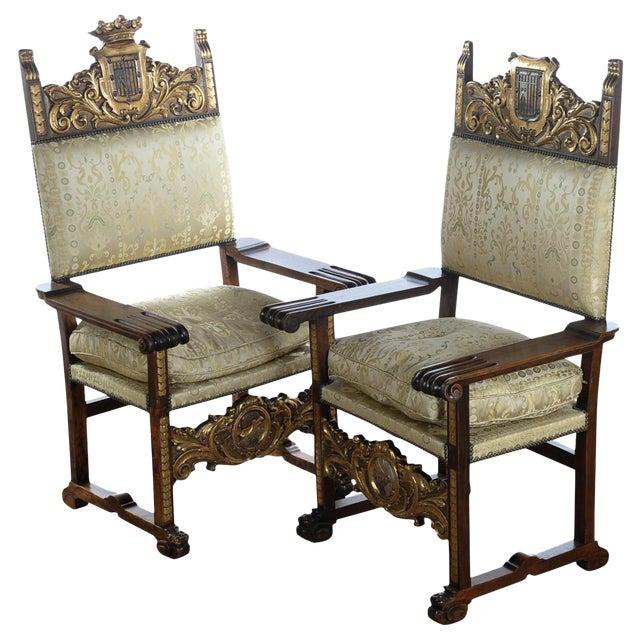 Renaissance Arm Chairs - Pair For Sale